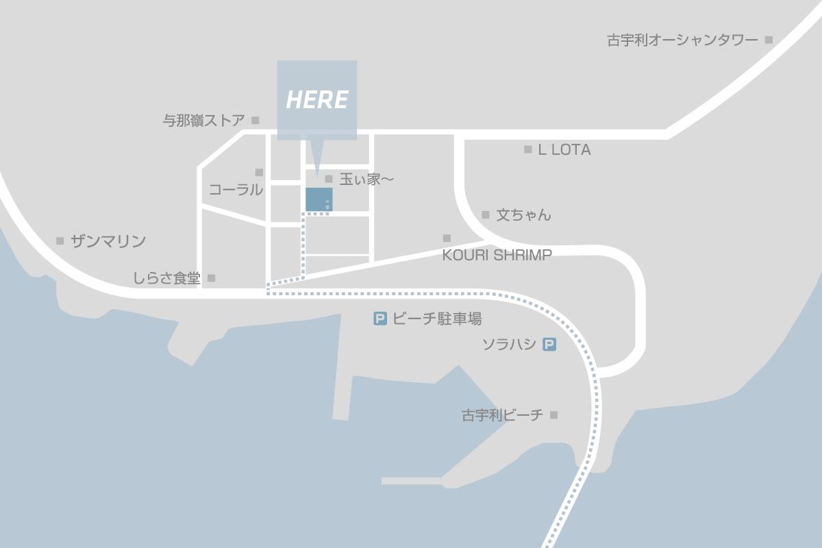 プチリゾート古宇利島までのルートマップ